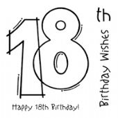 Woodware - 18TH Birthday - Clear Magic Stamp Set - FRS127